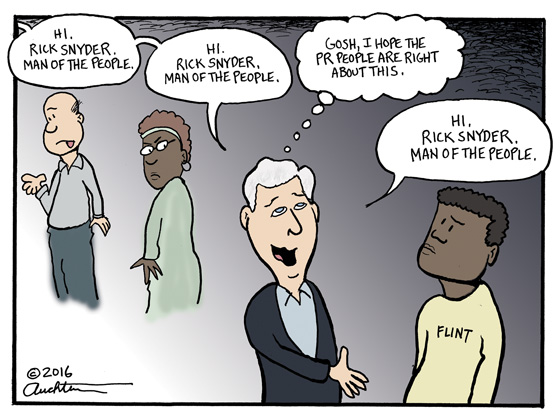 Rick Snyder. Man of the People.