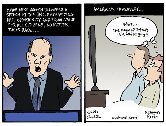 Mayor Duggan Speaks at the DNC