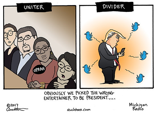 Oprah the Uniter, Donald the Divider