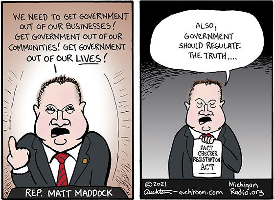 Rep. Matt Maddock Demonstrates Hypocrisy